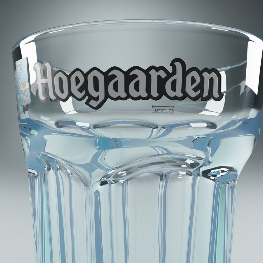 Beer Glass V3 royalty-free 3d model - Preview no. 6