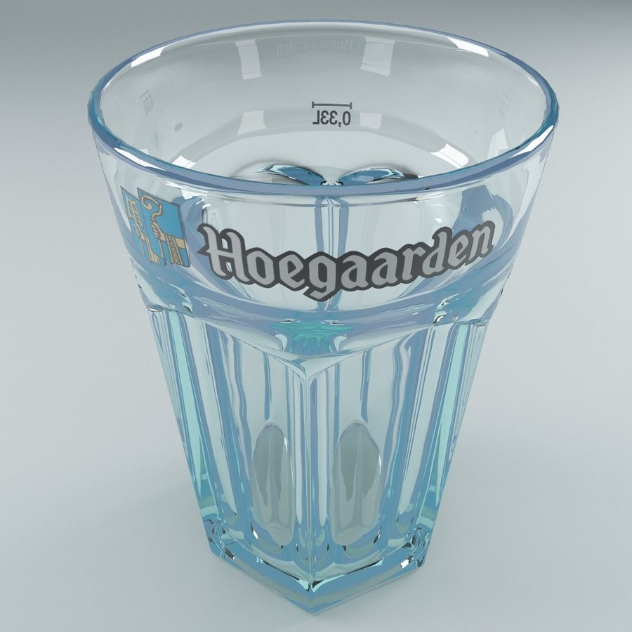 Beer Glass V3 royalty-free 3d model - Preview no. 5