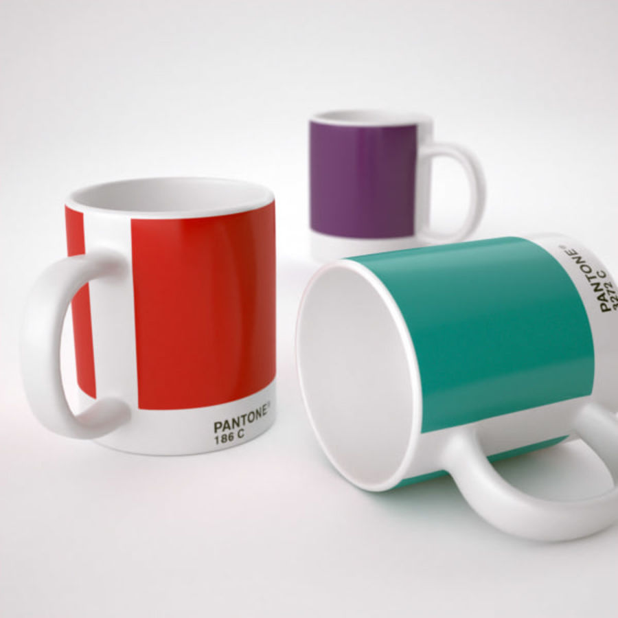 Pantone cup royalty-free 3d model - Preview no. 3
