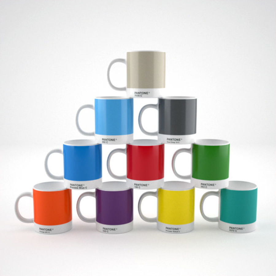 Pantone cup royalty-free 3d model - Preview no. 1