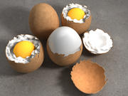 Egg in different Stages of Destruction 3d model