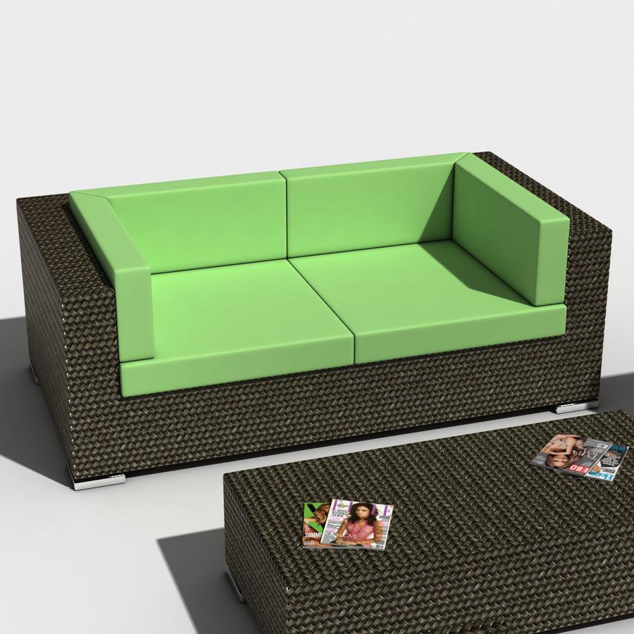 Lounge Set royalty-free 3d model - Preview no. 3