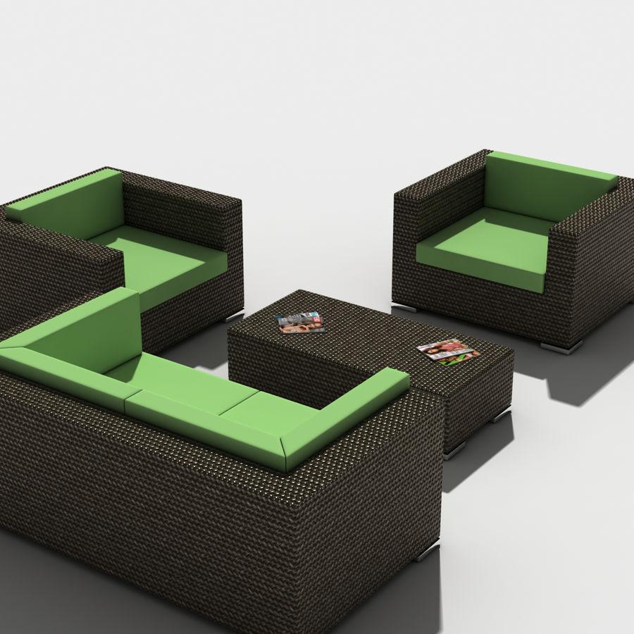 Lounge Set royalty-free 3d model - Preview no. 2