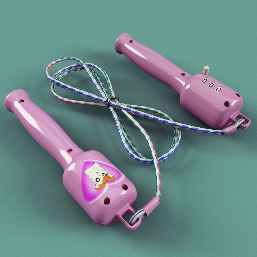 Digital Jump Rope V2 royalty-free 3d model - Preview no. 3