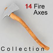 fire axes 3d model