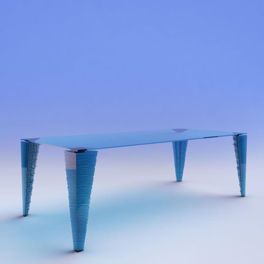 table_Atlas Glass Desk royalty-free 3d model - Preview no. 1
