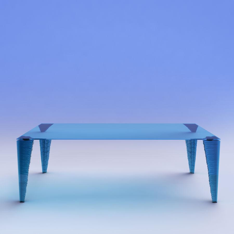 table_Atlas Glass Desk royalty-free 3d model - Preview no. 2