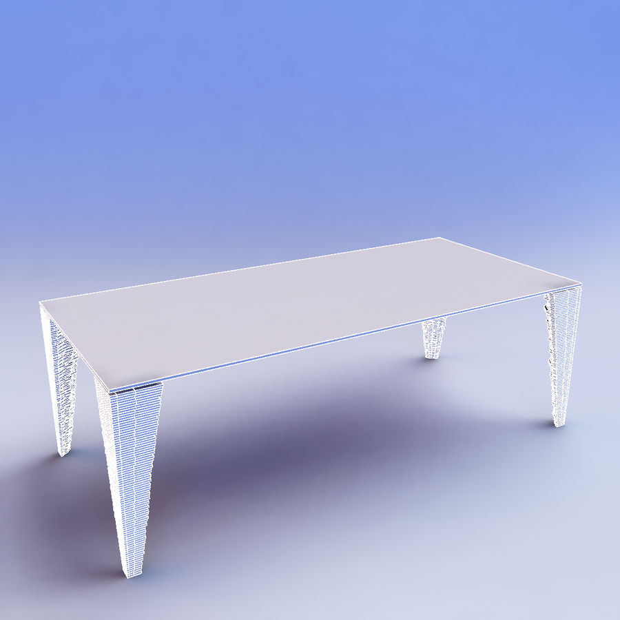table_Atlas Glass Desk royalty-free 3d model - Preview no. 6