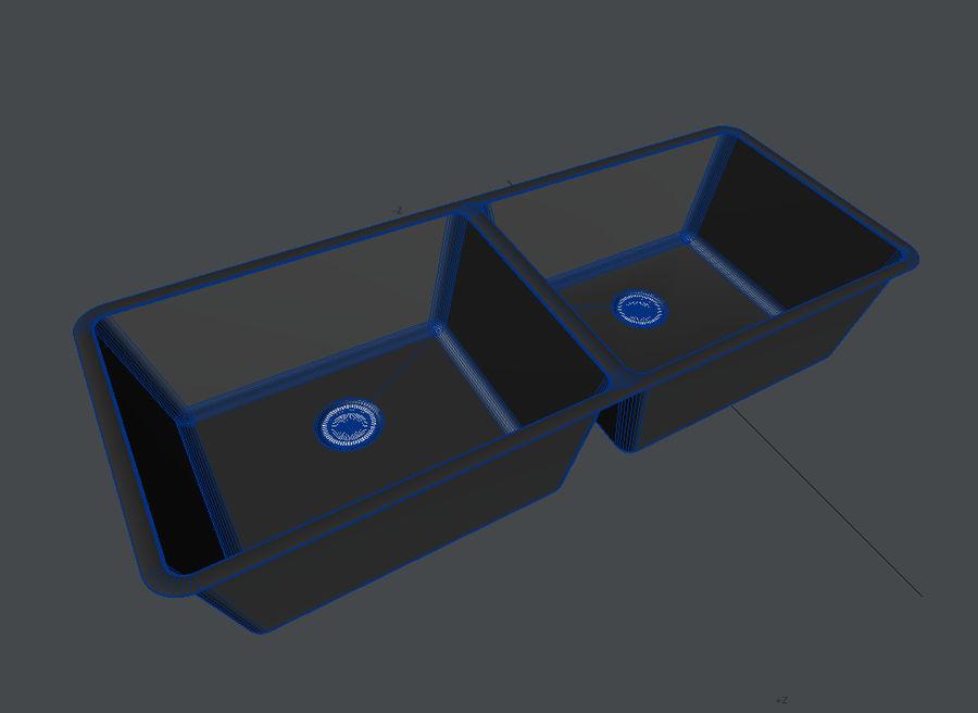 Évier de cuisine moderne modèle 3D $5 - .lwo .obj - Free3D