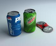 Lata de refrigerante 3d model