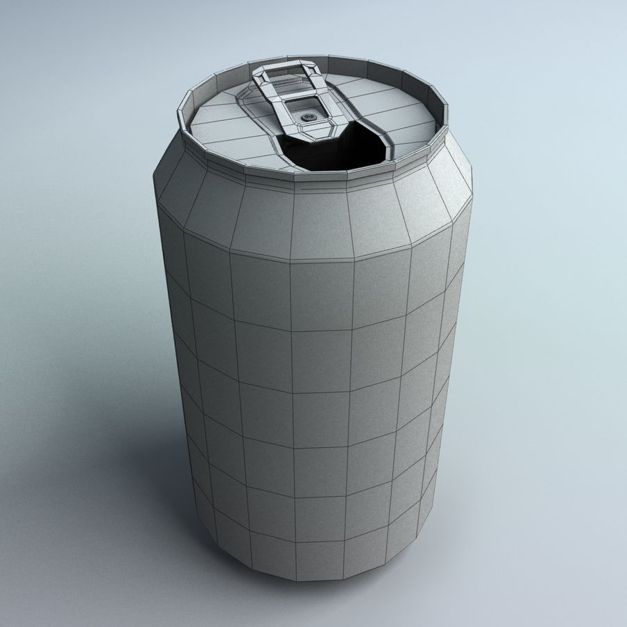 Soda Can royalty-free 3d model - Preview no. 7