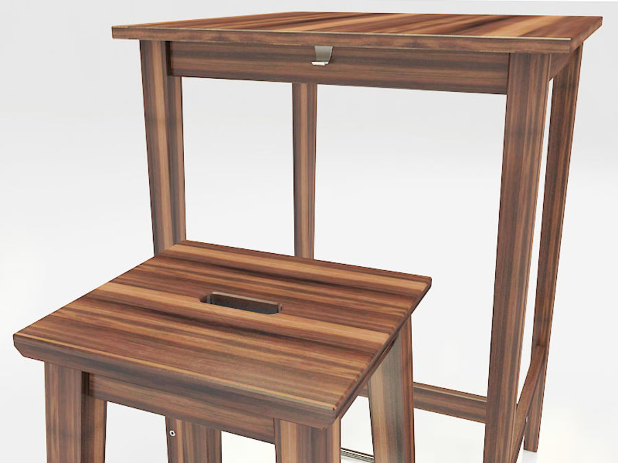 Ikea Table And Stools Bosse Bjorkudden 3d Model 25 Fbx