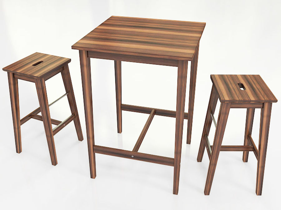 Ikea Table And Stools Bosse Bjorkudden 3d Model 25 Fbx