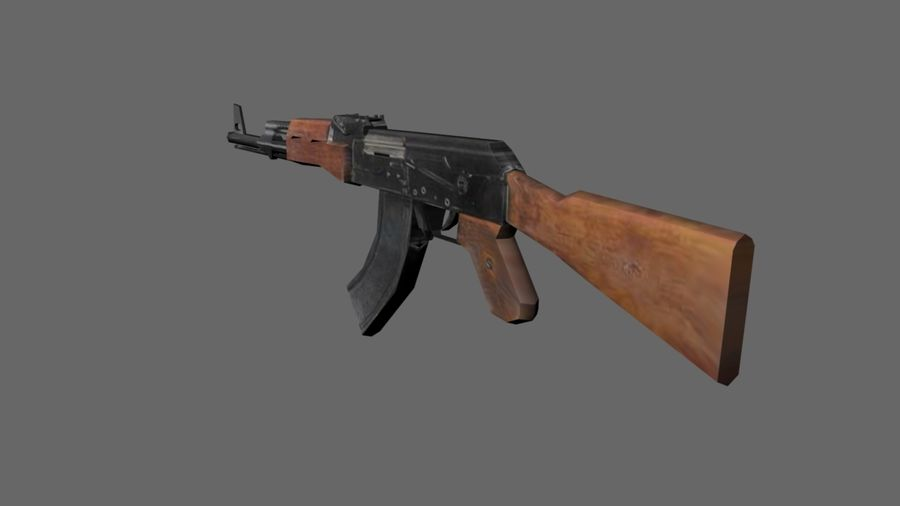 낮은 - 폴리 AK-47 소총 royalty-free 3d model - Preview no. 3