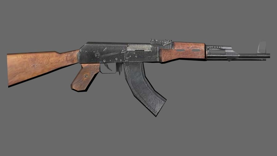낮은 - 폴리 AK-47 소총 royalty-free 3d model - Preview no. 2