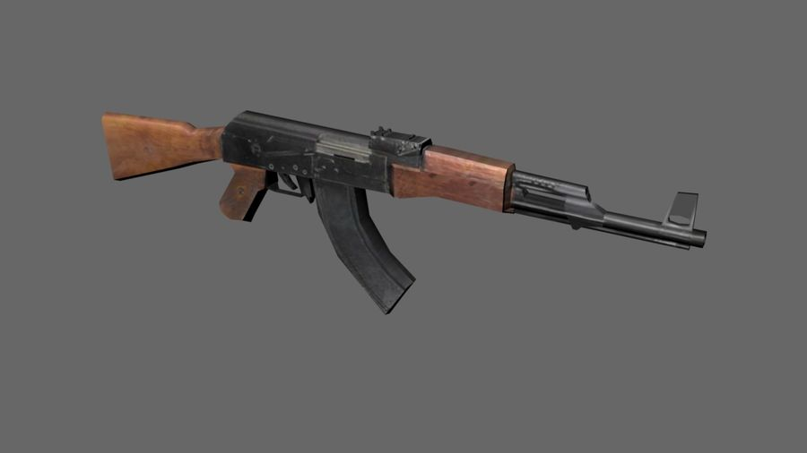낮은 - 폴리 AK-47 소총 royalty-free 3d model - Preview no. 1
