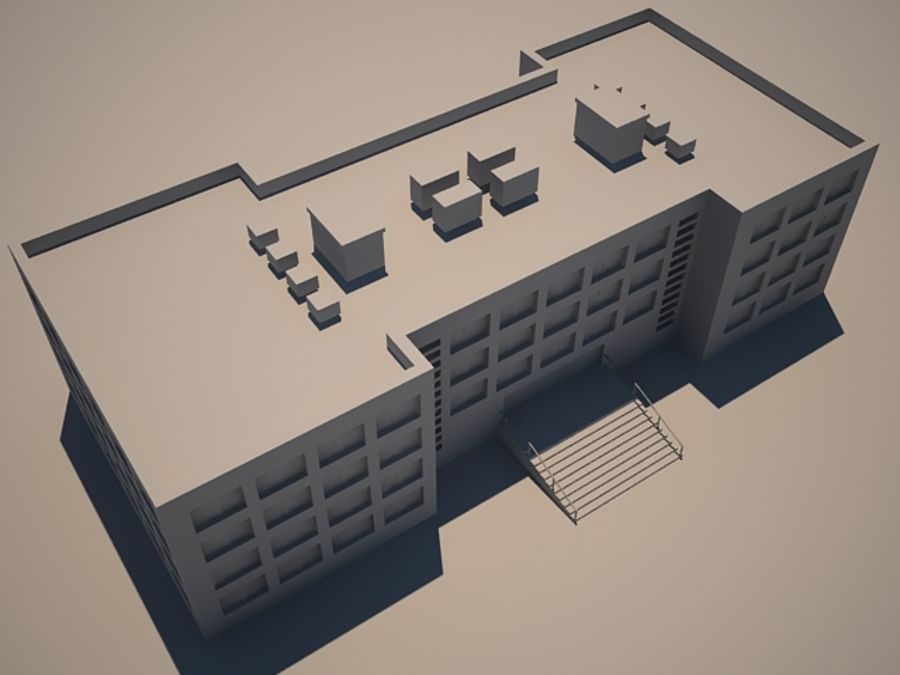 4StoryBuilding royalty-free 3d model - Preview no. 5
