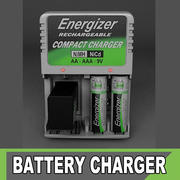 Energizer Bettery Charger and betteryes 3d model