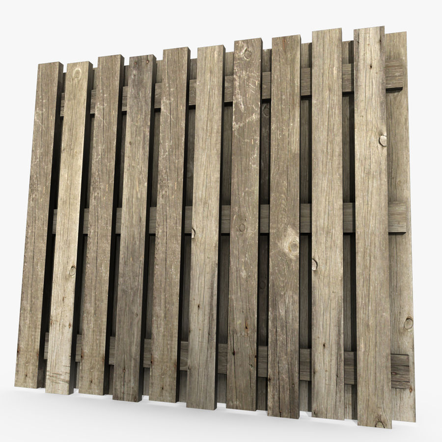 Wood Fence royalty-free 3d model - Preview no. 1