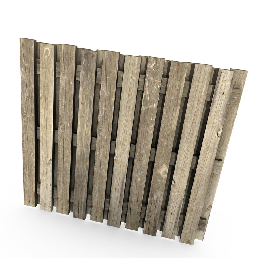 Wood Fence royalty-free 3d model - Preview no. 3