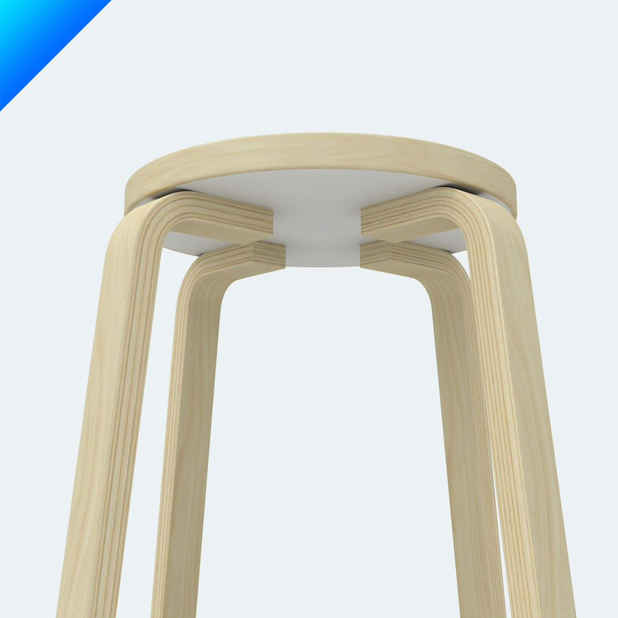 3 High Chair 64 Royalty Free 3d Model   Preview No.