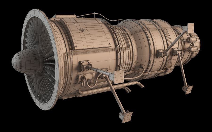 Jet Engine Protos 2011 royalty-free 3d model - Preview no. 11