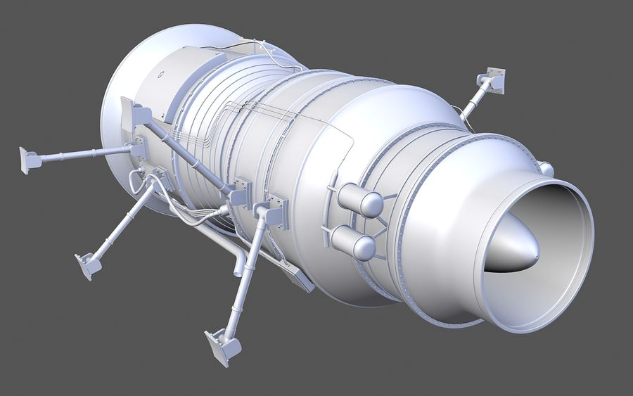 Jet Engine Protos 2011 royalty-free 3d model - Preview no. 7