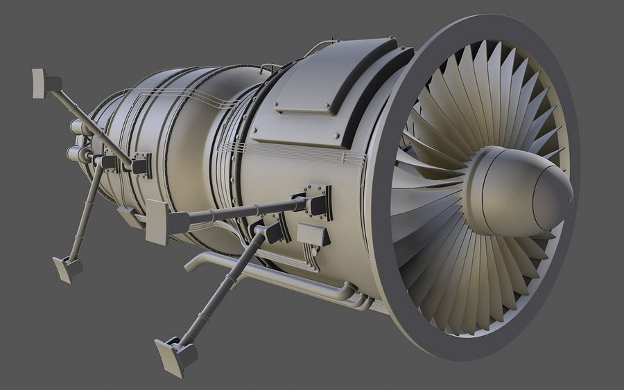 Jet Engine Protos 2011 royalty-free 3d model - Preview no. 9