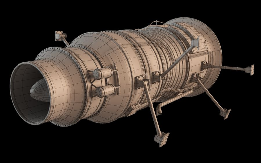 Jet Engine Protos 2011 royalty-free 3d model - Preview no. 12