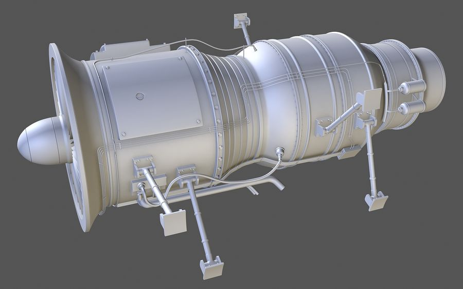 Jet Engine Protos 2011 royalty-free 3d model - Preview no. 3