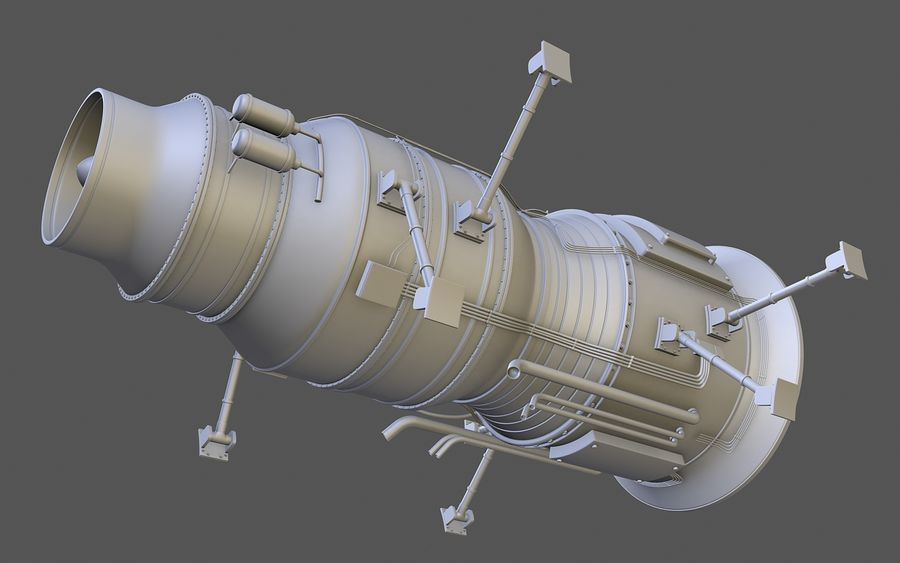 Jet Engine Protos 2011 royalty-free 3d model - Preview no. 6