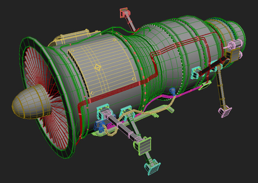 Jet Engine Protos 2011 royalty-free 3d model - Preview no. 2