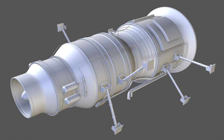 Jet Engine Protos 2011 royalty-free 3d model - Preview no. 5