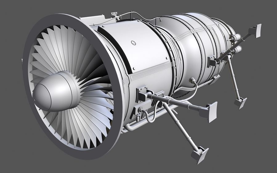 Jet Engine Protos 2011 royalty-free 3d model - Preview no. 8