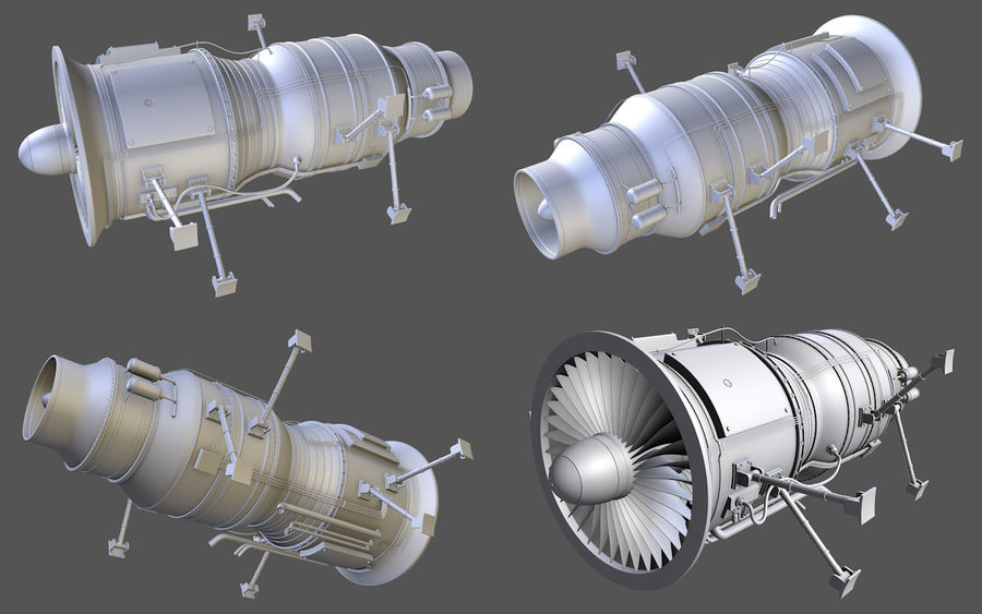 Jet Engine Protos 2011 royalty-free 3d model - Preview no. 1