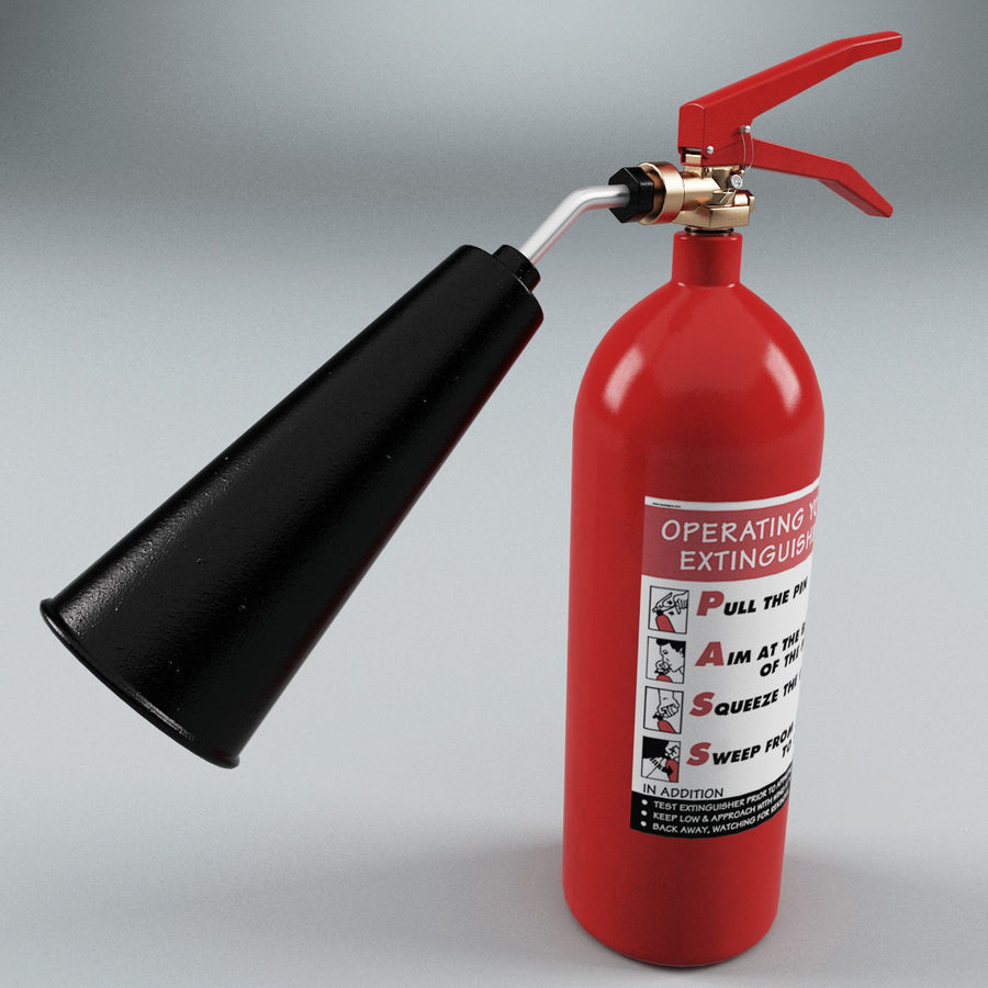 Fire Extinguisher V1 royalty-free 3d model - Preview no. 2