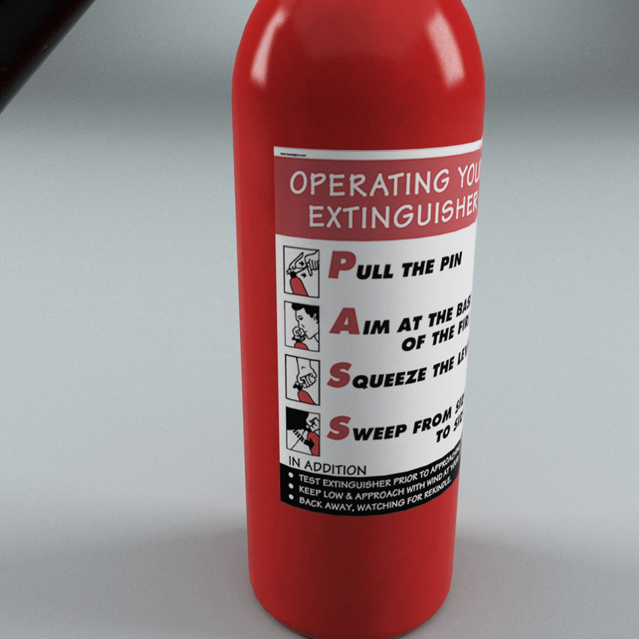 Fire Extinguisher V1 royalty-free 3d model - Preview no. 5
