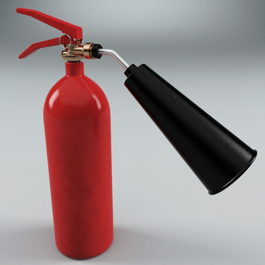 Fire Extinguisher V1 royalty-free 3d model - Preview no. 3