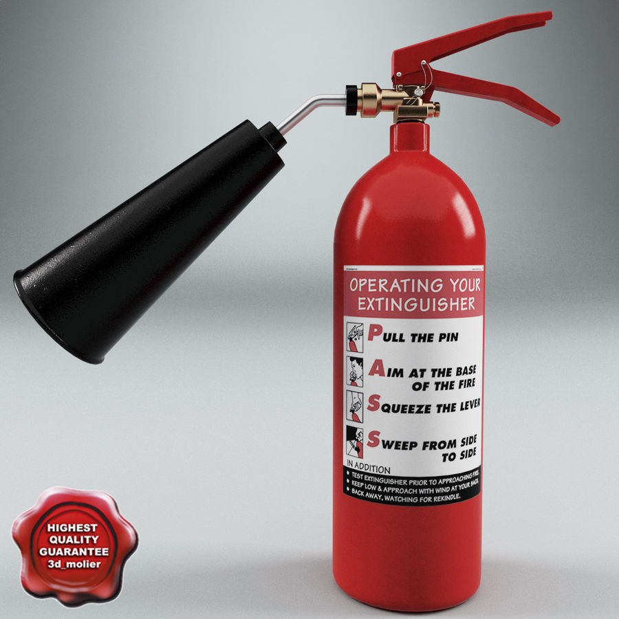 Fire Extinguisher V1 royalty-free 3d model - Preview no. 1
