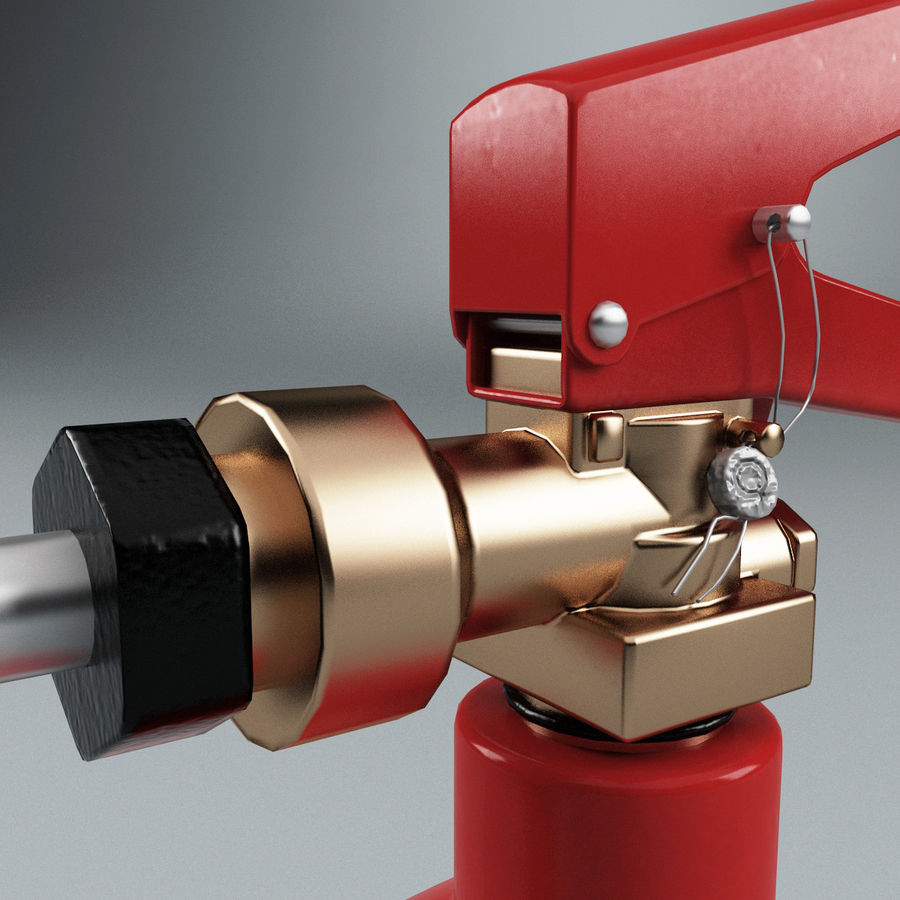 Fire Extinguisher V1 royalty-free 3d model - Preview no. 8