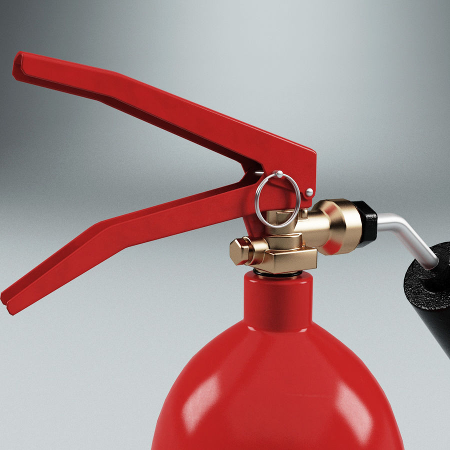 Fire Extinguisher V1 royalty-free 3d model - Preview no. 7