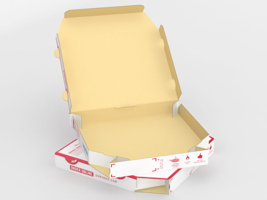 Pizza Box royalty-free 3d model - Preview no. 8