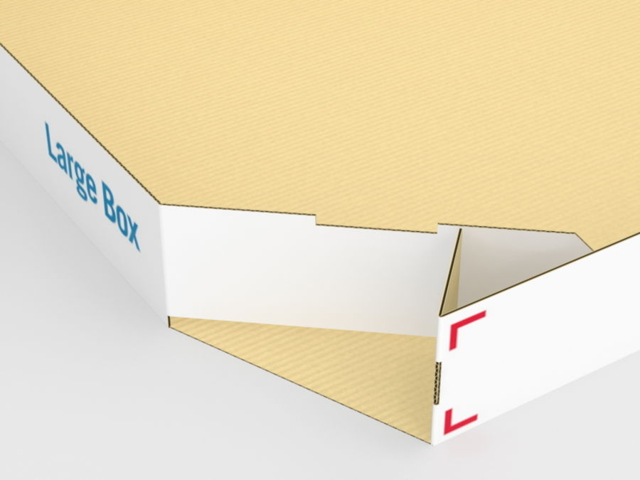 Pizza Box royalty-free 3d model - Preview no. 4