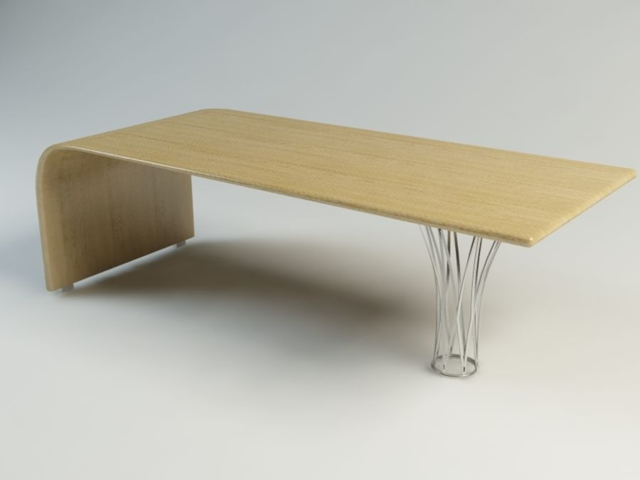 dinning table royalty-free 3d model - Preview no. 1