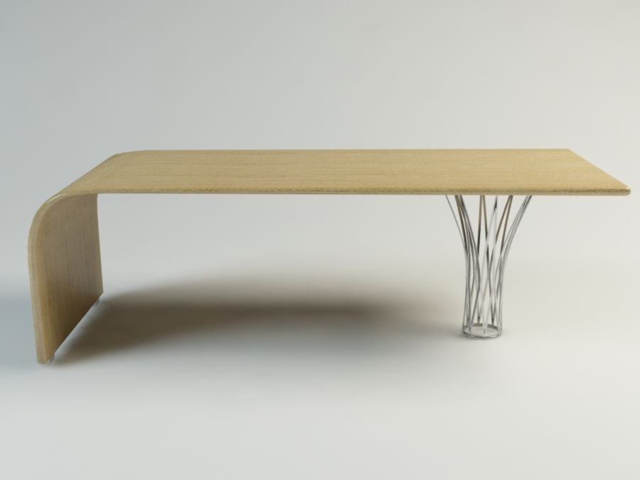 dinning table royalty-free 3d model - Preview no. 2