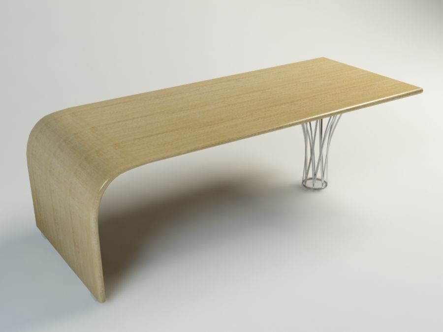 dinning table royalty-free 3d model - Preview no. 3