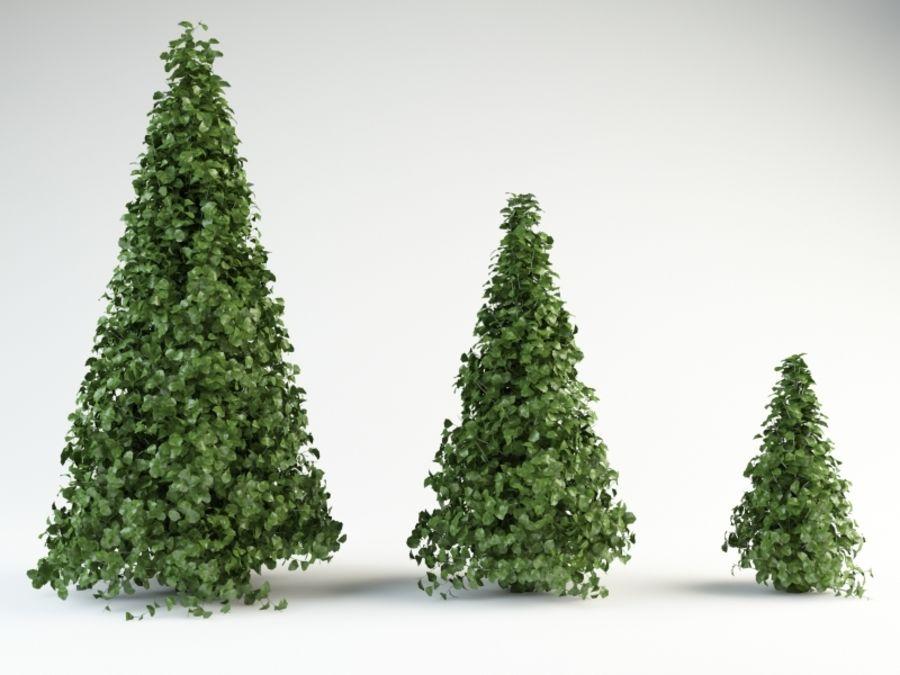 bush shrub royalty-free 3d model - Preview no. 1