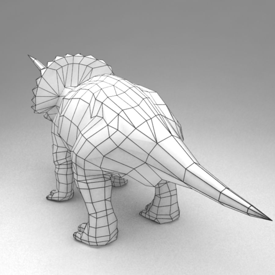 Triceratops animated royalty-free 3d model - Preview no. 7