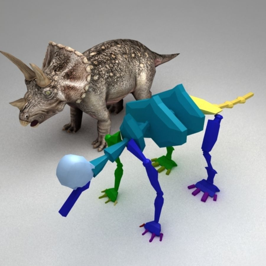 Triceratops animated royalty-free 3d model - Preview no. 5