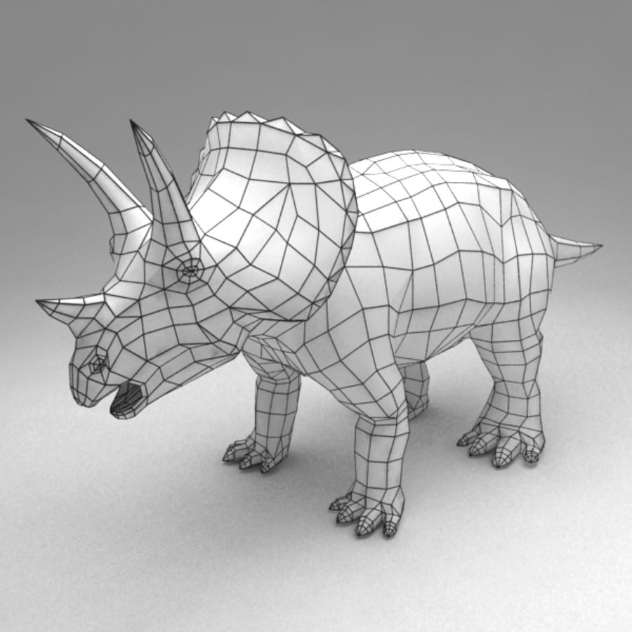 Triceratops animated royalty-free 3d model - Preview no. 6